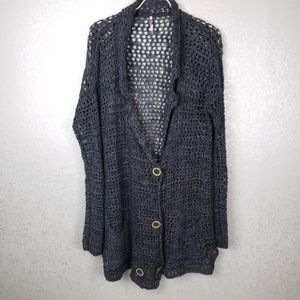 Free People Open Knit Oversized Cardigan Size Med